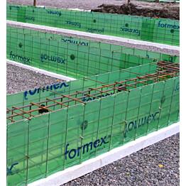 Anturamuotti Formex jatkuva paalutettava seinäantura 550x500x5000mm