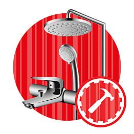 Sekoittajan ja suihkusetin asennuspalvelu