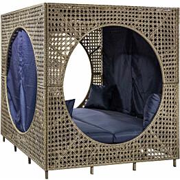 Aurinkovuode Home4you Cubic, 184x184cm, hiekka/sininen