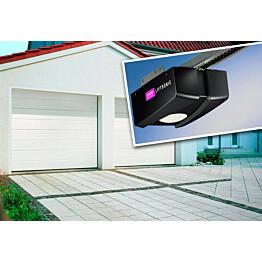 Autotallin nosto-ovi Isomatic Nordic 2500x2125mm vaakauritettu + avaaja Liftronic 500