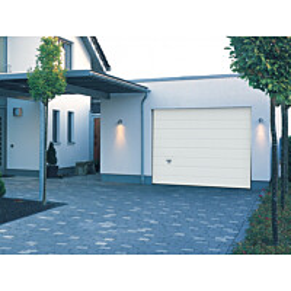 Autotallin nosto-ovi Turner 820, 2500x2125 mm, leveä vaakaura puunsyykuvio