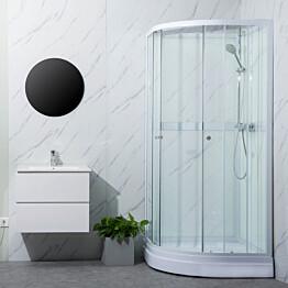 Suihkukaappi Bathlife Ideal pyöreä 90 x 90 cm