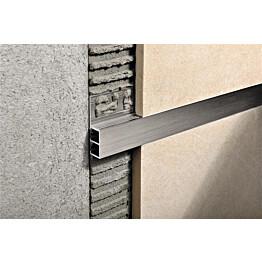 Boordi Progress Profiles Profinlist 2,7m 20x8mm harjattu alumiini