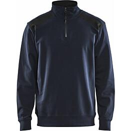 College Blåkläder 3353, lyhyt vetoketju, tumma mariininsininen/musta