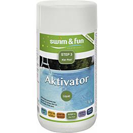 Desinfiointitehostin Swim & Fun Aktivator 1 l aktiivihapelle
