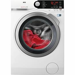 Edestä täytettävä kuivaava pyykinpesukone AEG L7WRS162E 1600rpm 10/6kg valkoinen