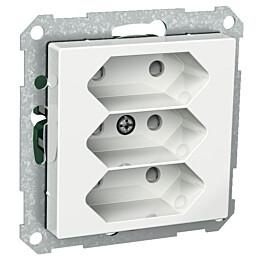 Europistorasia 3E/16A/250V/IP20 UKR 0X valkoinen Exxact 2530191