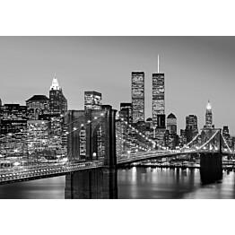 Valokuvatapetti 00138 Manhattan Skyline at Night 8-osainen 366x254 cm