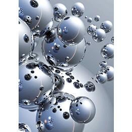Valokuvatapetti 00413 Silver Orbs 4-osainen 183x254 cm