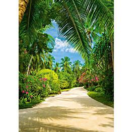 Valokuvatapetti 00438 Tropical Pathway 4-osainen 183x254 cm
