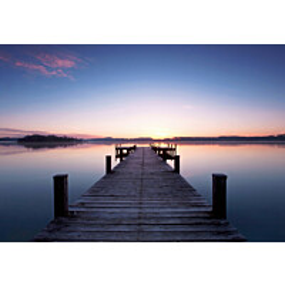 Valokuvatapetti 00953 Pier at Sunrise 8-osainen non-woven 366x254 cm