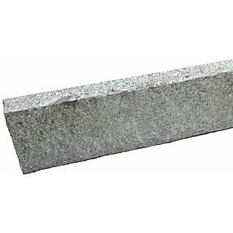 Graniittireunakivi Rudus R80 h=250 1000x80x250 mm karkeahakattu harmaa