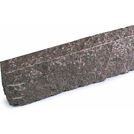 Graniittireunakivi Rudus R80 h=250 1000x80x250 mm karkeahakattu punainen