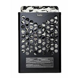 Sähkökiuas Helo Hanko 80 STJ, 8kW, 8-12m³, kiinteä ohjaus, musta