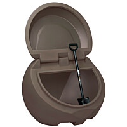 Hiekka-astia UK-Muovi Greeny 450 l, ruskea