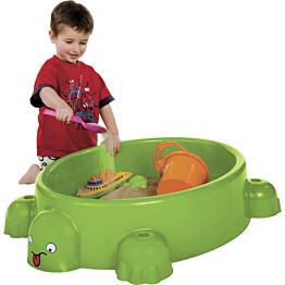 Hiekkalaatikko Paradiso Toys, kilpikonnasuojus istuimilla, muovi, vihreä