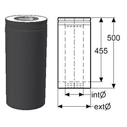 Hormijakso Schiedel Permeter Smooth 150mm, musta, 500mm