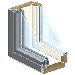 Ikkuna MSEAL 2+2-lämpölasi U-arvo 0,8