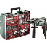 Iskuporakonesetti Metabo SBE 650 Mobile Workshop 650 W + tarvikesarja