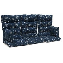 Istuinpehmuste Dalom pihakeinuun 174 x 128 x 10 cm sininen kukkakuvio