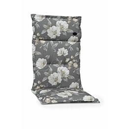 Istuinpehmuste Milano 9807 117 x 50 x 5 cm valkoinen kukkakuviointi