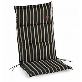 Istuinpehmuste Milano raidallinen musta 9807318