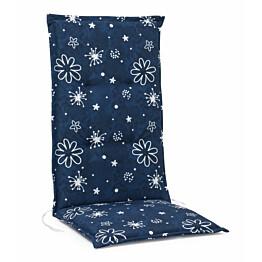 Istuinpehmuste Monza korkea 118 x 49 x 5 cm sininen kukkakuvio
