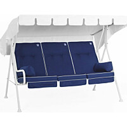 Istuinpehmuste pihakeinuun Comfort Garden sininen/valkoinen