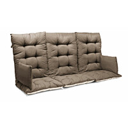 Istuinpehmuste Slöinge/Mora pihakeinuun 150 x 128 x 10 cm ruskeanharmaa