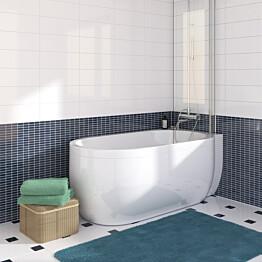 J-paneeli kylpyammeeseen Nordhem Djupvik Nordurit valkoinen oikea