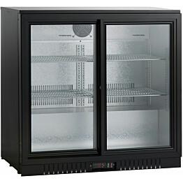 Jääkaappi lasiovella Scandomestic SC211SLE 90 cm musta