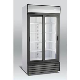 Jääkaappi Scancool SD 801 SL lasiovella 2020x1000x700 mm 800l
