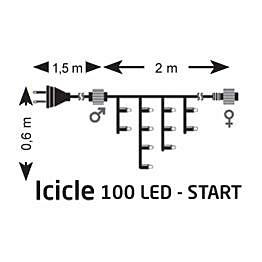 Jääpuikkonauha Markslöjd Chrissline Start IP44 100 valoa