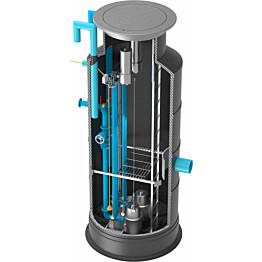 Jätevesipumppaamo Roadpipe 1000/600, 2 pumpulla, 380V keskus, paineanturi