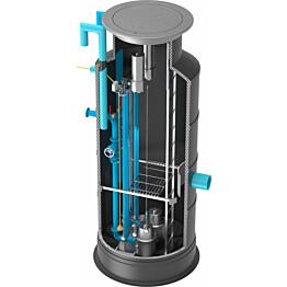Jätevesipumppaamo Roadpipe 1200/600, 2 pumpulla, 380V keskus, painteanturi