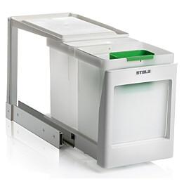 Jätevaunu Stala EkoLine EKO-2PK 2x10 L + ongelmajäteastia