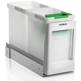 Jätevaunu Stala EKO2-1 2x10 L + ongelmajäteastia