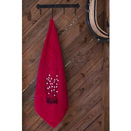 Jättipyyhe Pikkupuoti Suovilla 100x150 cm punainen