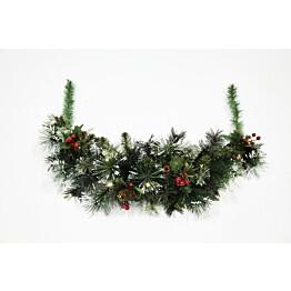 Jouluköynnös Nordic Winder, 74cm, valoilla ja koristeilla