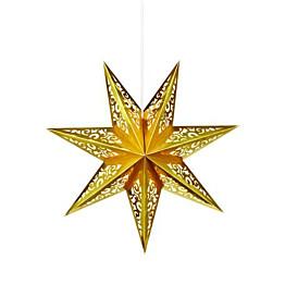 Joulutähti Markslöjd Vallby 45 cm paperi kulta