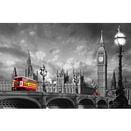 Juliste Giant Art 00697 Bus on Westminster Bridge 175x115 cm