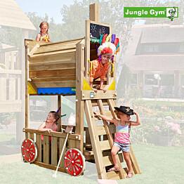 Junamoduuli leikkitorniin Jungle Gym Train Module sis. puutavaran ja liukumäen