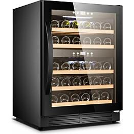 Kahden lämpötilan viinikaappi Cavin Scandinavian Collection 40 musta integroitava