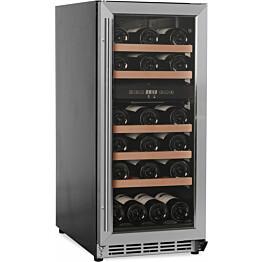 Kahden lämpötilan viinikaappi Cavin Scandinavian Collection 800 teräs integroitava