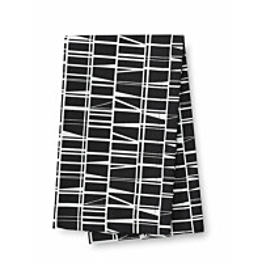 Kaitaliina Finlayson Coronna 40x140 cm musta/valkoinen
