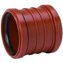 Kaksoismuhviyhde PVC 200 mm