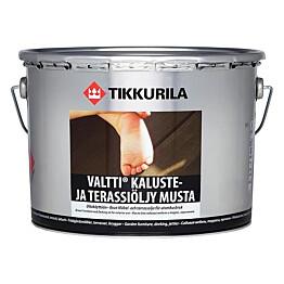 Tikkurila Valtti Kaluste- ja terassiöljy 9 l musta