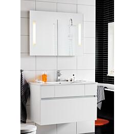 Kalusteryhmä Hafa East 900 allaskaappi + peili valkoinen