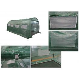 Kalvokasvihuone Pro 18 m² teräsrunko muovikate
