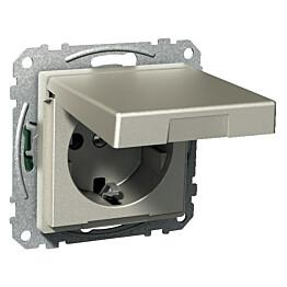 Kannellinen pistorasia 1S/16A/250V/IP21 UKJ metalli Exxact 2530113